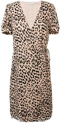 Alice + Olivia Alice+Olivia leopard print wrap dress