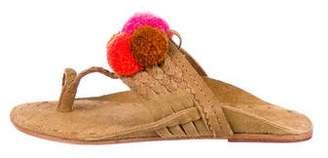 Figue Suede Pom-Pom Sandals
