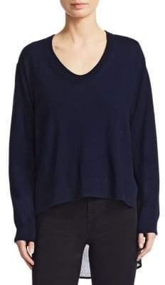 Alexander Wang Plaid Back Wool Sweater