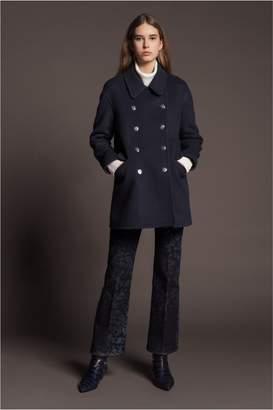 Sonia Rykiel Double-Faced Wool Pea Coat