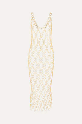 Paco Rabanne Anneau Fill Rond Chain Link Midi Dress - Gold