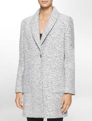 Calvin Klein marbled boucle coat