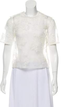 Cacharel Sheer Embroidered Top w/ Tags