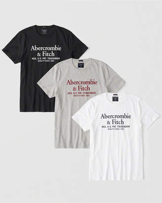 Abercrombie & Fitch 3-Pack Logo Tee