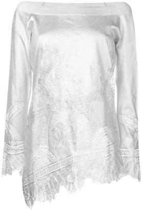 Ermanno Scervino lace embellished asymmetric top