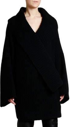 Stella McCartney Oversized Wool Chunky Textured Cardigan