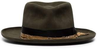 Nick Fouquet distressed ribbon embellished fur hat