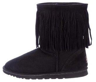 Koolaburra Fringe Round-Toe Ankle Boots $130 thestylecure.com