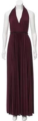 Halston Halter Maxi Dress w/ Tags