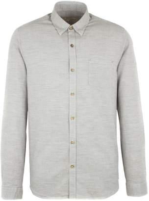 Gibson Men's Taupe Mini Check Long Sleeved Shirt