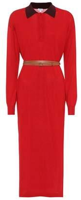 Loewe Belted cotton-jersey dress