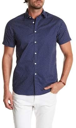 Indigo Star Pointer Short Sleeve Floral Polka Dot Tailored Fit Shirt