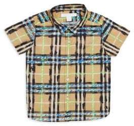 Burberry Baby's& Toddler's Sketched Plaid Shirt