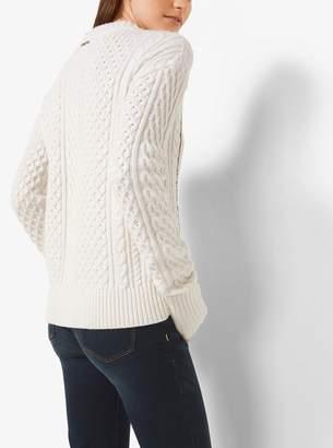 MICHAEL Michael Kors Chain-Trim Merino Wool and Cashmere Sweater