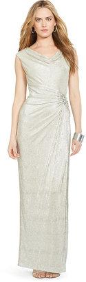 Lauren Ralph Lauren Embellished Metallic Gown $210 thestylecure.com