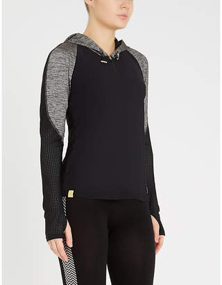 Monreal London Endurance stretch-jersey hooded top