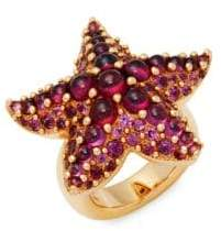 Pomellato Garnet and 18K Gold Starfish Ring