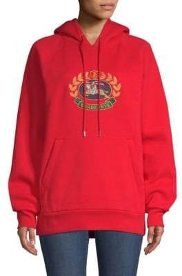 Burberry Esker Embroidered Crest Hoodie