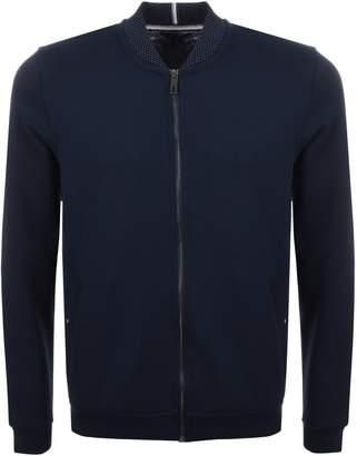 Ted Baker Wolf Full Zip Bomber Sweatshirt Navy