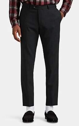 Officine Generale Men's Paul Glen Plaid Wool Trousers - Black