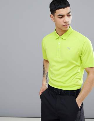 Puma Essential Pounce Polo In Lime Green 57046236