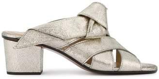 Chloé Grey Glitter Nolan Mules