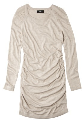 Mossimo® Women's Ultra-Soft Ruched Sweater Dress - Assorted Colors
