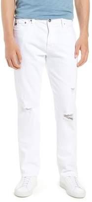 AG Jeans Everett Slim Straight Leg Jeans (White Crash)