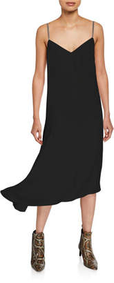 Brunello Cucinelli Asymmetric Crepe Cocktail Dress