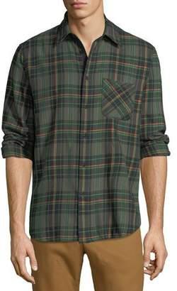 Rag & Bone Men's Fit 3 Plaid Beach Shirt with Pocket