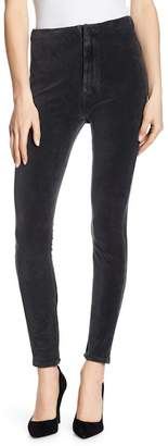 Mother High Waist Seamless Corduroy Looker Skinny Pants