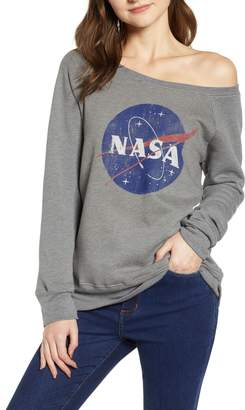 Recycled Karma NASA Off the Shoulder Sweatshirt