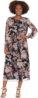 Vince Camuto Timeless Blooms Cinch Waist Dress