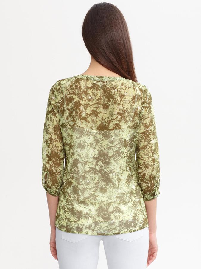 Banana Republic Heritage leaf print blouse
