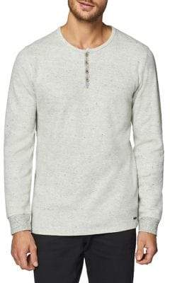 Esprit Textured Long-Sleeve Henley