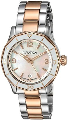 Nautica Women's 'NWS 01' Quartz Stainless Steel Casual Watch, Color: Silver-Tone (Model: NAD19544L) $195 thestylecure.com