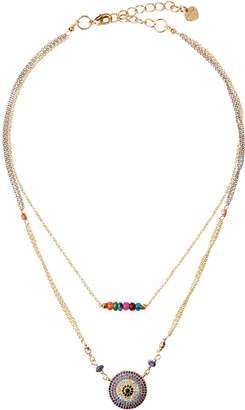 Nakamol 2-Strand Medallion & Bead Necklace