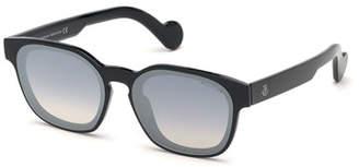 Moncler Men's Square Plastic Sunglasses