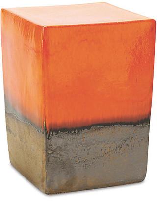 Tacitus Square Cube Stool - Orange - Seasonal Living