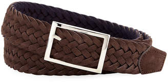 Simonnot Godard Men's Reversible Suede & Wool Felt Belt