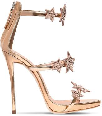 Giuseppe Zanotti Design 120mm Swarovski Metallic Leather Sandals