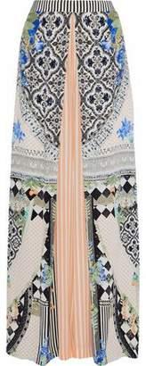 Camilla Salvador Secrets Embellished Silk Crepe De Chine Wide-Leg Pants