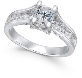 Macy's X3 Certified Diamond Engagement Ring (1-1/4 ct. t.w.) in 18k White Gold, Created for