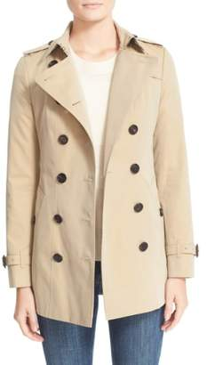 Burberry Sandringham Short Slim Trench Coat