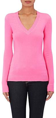 Barneys New York WOMEN'S CASHMERE V-NECK SWEATER - BT. PINK SIZE S