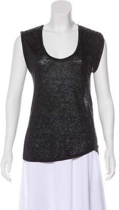 Isabel Marant Sleeveless Semi-Sheer Top