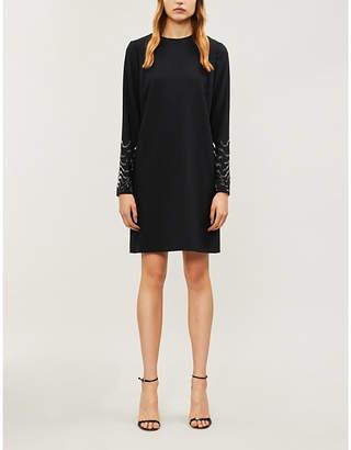 Victoria Beckham Victoria Bead-embellished crepe mini dress