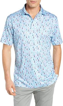 Peter Millar Crawford Regular Fit Print Polo