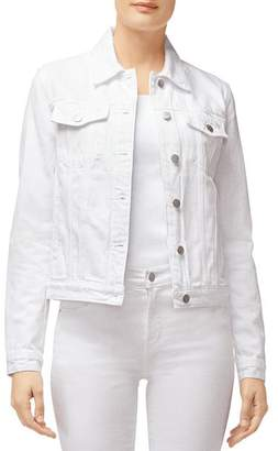 J Brand Harlow Shrunken Denim Jacket in White