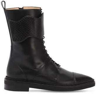 Bella Vita Francesca Bellavita 20mm Leather Combat Boots